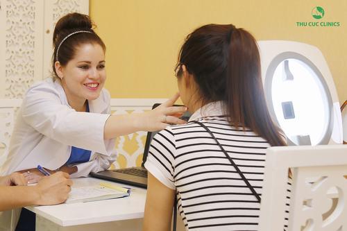 Tư vấn triệt lông mặt tại Thu Cúc Clinics