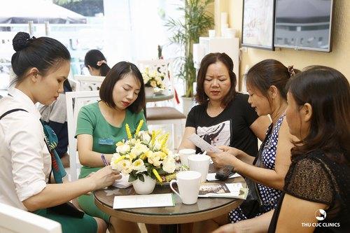 khách hàng đến tư vấn triệt lông tại THu Cúc Clinics Thanh Hóa