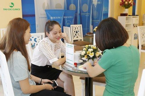 tư vấn triệt lông bằng laser tại Thu Cúc Clinics