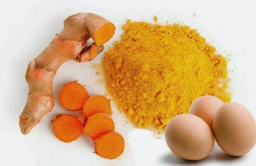 tẩy lông bằng trứng gà và bột nghê