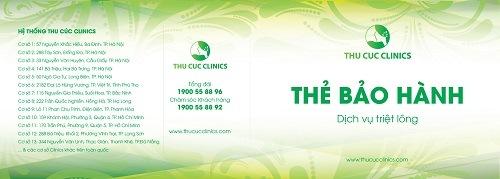 Thẻ bảo hành triệt lông tại Thu Cúc Clinics.