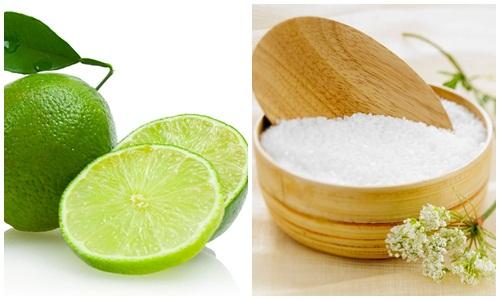 mẹo tẩy lông tại nhà bằng muối và chanh
