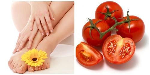 Cách tẩy lông chân bằng cà chua là phương pháp tự nhiên rất an toàn cho làn da.