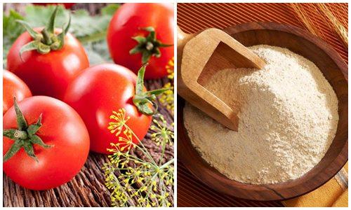 Cách tẩy lông chân từcà chua kết hợp bột mỳ đem lại hiệu quả nhanh chóng.