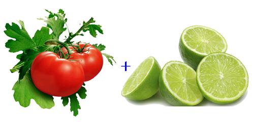 Kết hợp trị lông mặt bằng cà chua và nước chanh sẽ giúp chị em xua tan nỗi lo violong rậm rạp.