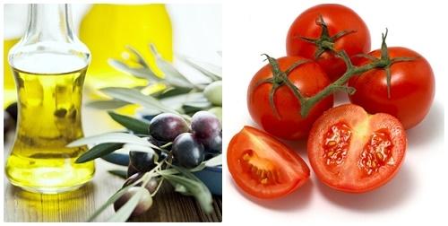 Dầu ô liu chứa nhiều vitamin E giúp cân bằng độ ẩm và tẩy lông trên da an toàn.