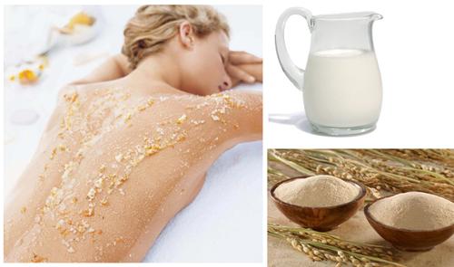 Dùng cám gạo để trị viêm nang lông an toàn cho mọi loại da.
