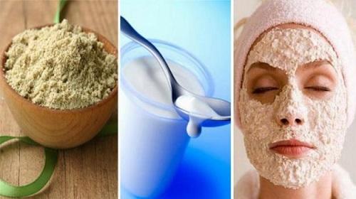 Cám gạo kết hợp với sữa tươi giúp làn da tươi sáng và mịn màng hơn.