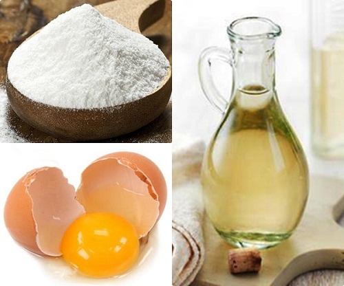 Cách tẩy lông nách hiệu nghiệm: hỗn hợp trứng gà, giấm và bột gạo khiến chúng rụng dần khỏi bề mặt da một cách tự nhiên.