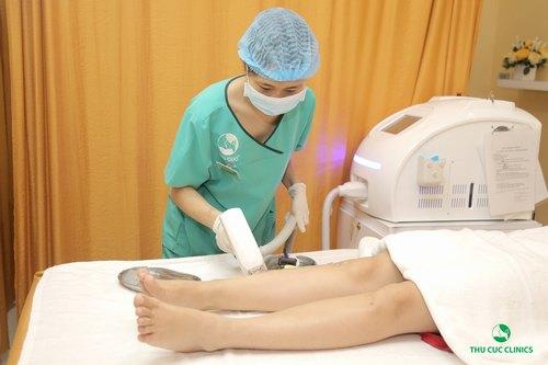 Thu Cúc Clinics đang ứng dụng thành công phương pháp triệt lông bằng Laser Diode.