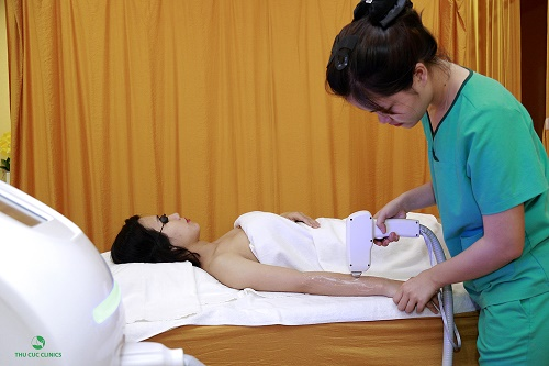 Thu Cúc Clinics đang ứng dụng thành công phương pháp triệt lông bằng công nghệ Laser Diode.