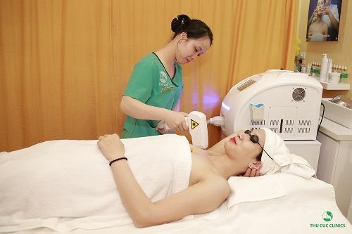Thu Cúc Clinics đang ứng dụng triệt lông nách bằng công nghệ Laser Diode hiện đại.
