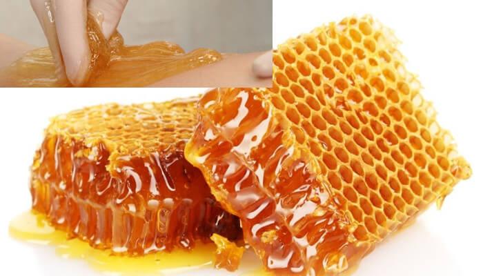 Cách triệt lông nách bằng sáp ong