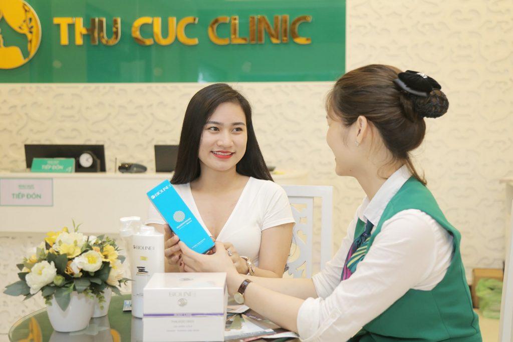 Chế độ chăm sóc khách hàng chuyên nghiệp, tận tình tại Thu Cúc Clinics