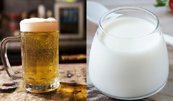 Mặt nạ bia và sữa chua không chỉ giúp làm mờ vết thâm sạm mà còn se khít lỗ chân lông và làm sáng da nhanh chóng.