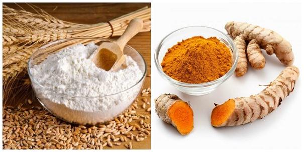Tắm trắng từ bột mì và nghệ có thể áp dụng cho nhiều loại da khác nhau mà không gây kích ứng.