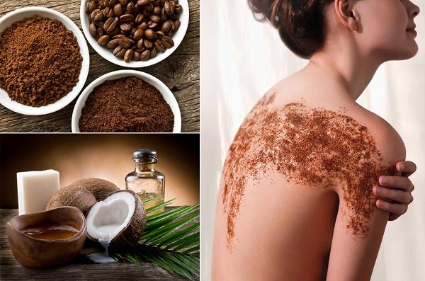 Kết hợp cà phê và dầu dừa tắm trắng sẽ có công dụng rất tốt, giúp hạn chế sự xuất hiện của các đốm sắc tố nâu đen như nám...