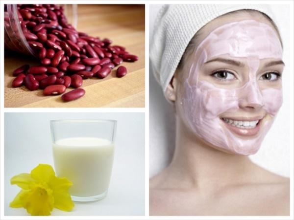 Tắm trắng bằng bột đậu đỏ và sữa tươi được các chị em áp dụng rất phổ biến.