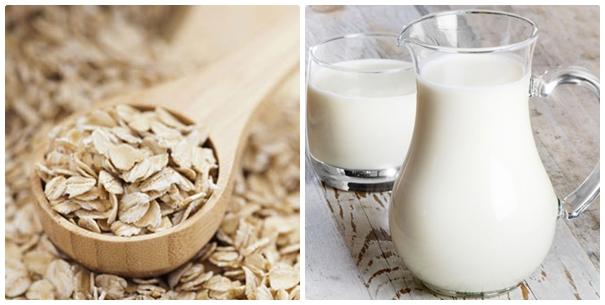 Kết hợp bột yến mạch cùng với sữa tươi không đường sẽ có công dụng dưỡng trắng da khá tốt.