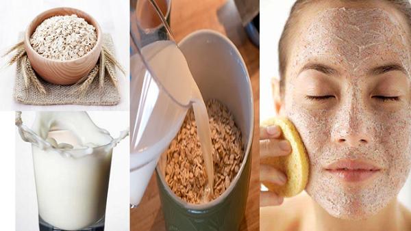 Bột yến mạch và sữa tươi đều là các nguyên liệu làm đẹp tự nhiên được đông đảo chị em yêu thích.